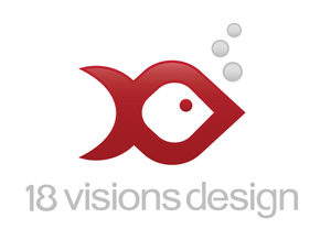 the new 18 visions design logo