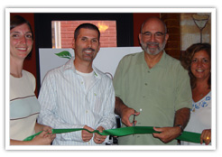 ribbon cutting for choose green expo