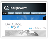 thoughtquest and database visions web site launch